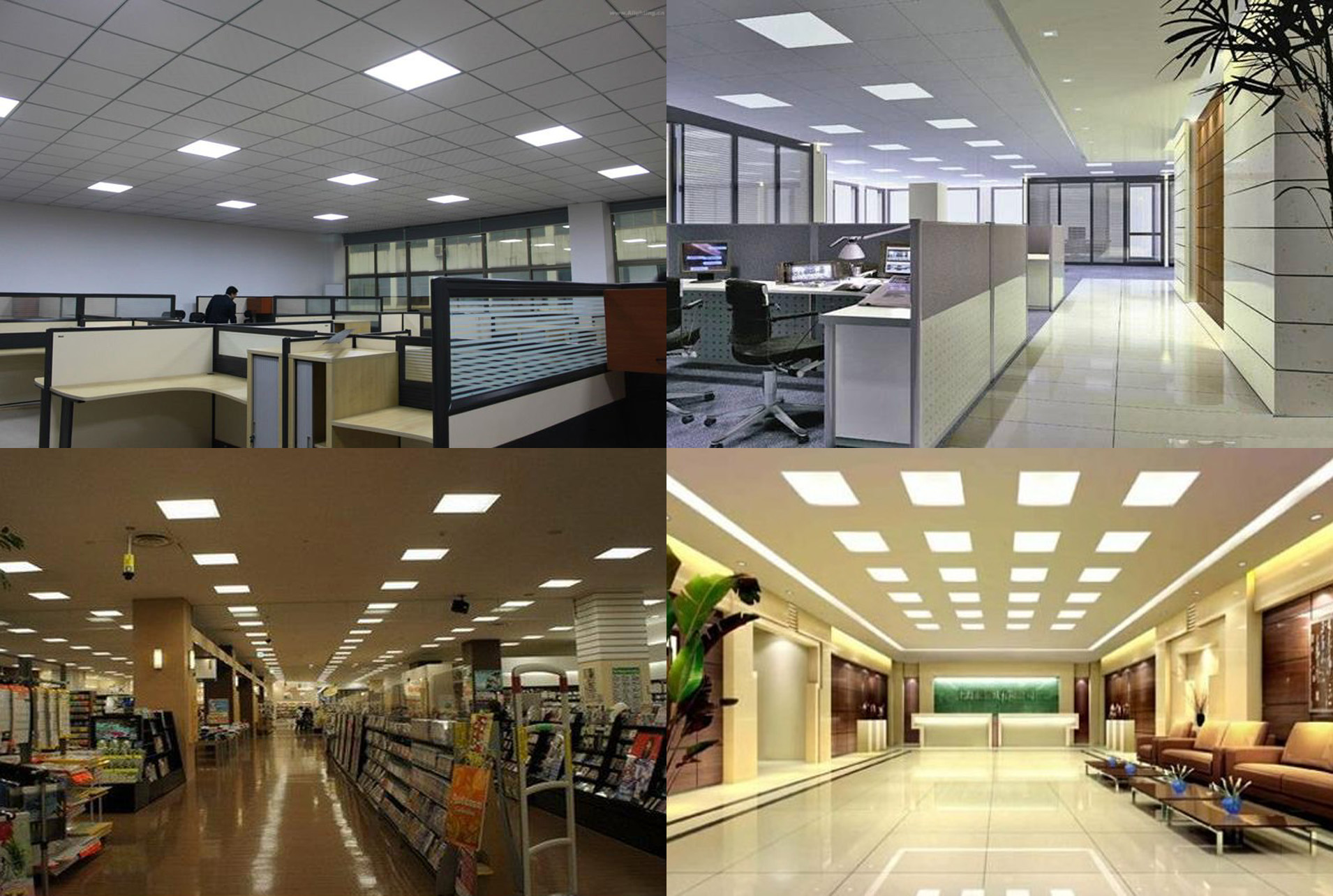 commercial lighting shopping malls supermarkets kitchen display